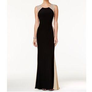 XSCAPE dress w/ fade beading along the side